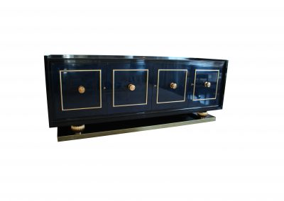 Lacquer server with gold details