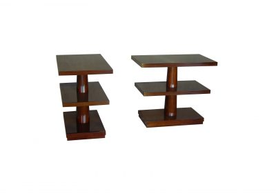 Espresso mahogany side tables