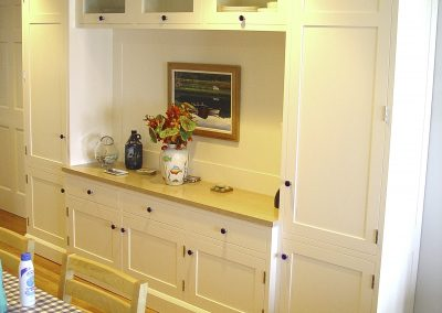 Painted den wall unit