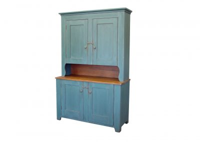 Antique paint buffet with maple top