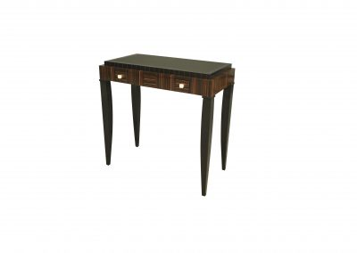 Macassar ebony console table with painted top
