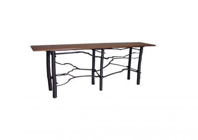 Console table with twig base