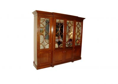 Walnut cabinet with antique mirror